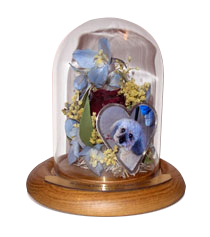 Pet Memorial Flowers Preservation in Table Dome