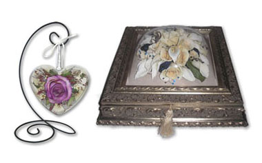 Dried Flowers Ornament and Jewelry Box